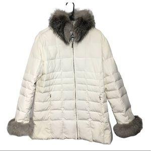 Marvin Richards Down/Feather Jacket Fox Fur Trim